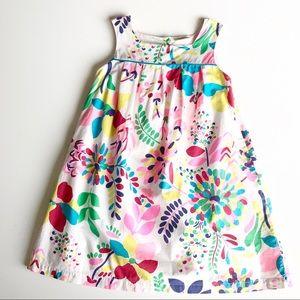 Mini Boden Girls Colorful Floral Shift Dress 7-8 y